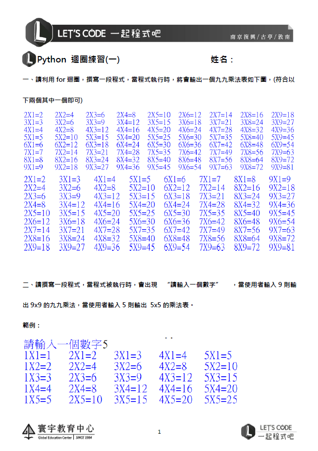 1.迴圈練習(0317)